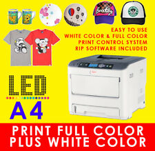 OKI White Toner  Laser T Shirt Heat Transfer Printer V300, AS C711WT PRO7411WT