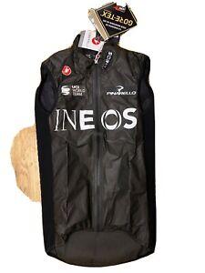 Team Ineos Castelli Idro Pro Rain Cycling Vest / Sleeve Less Brand New