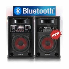 "COPPIA CASSE AMPLIFICATE KARAOKE DJ BLUETOOTH 800W USB-SD WOOFER 26 CM 10"" EQUAL"