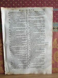 1693- BIBLE LEAF. VULGATE SIXTO-CLEMENTINE. CATHOLIC RELIGION. ORIGINAL-H 453