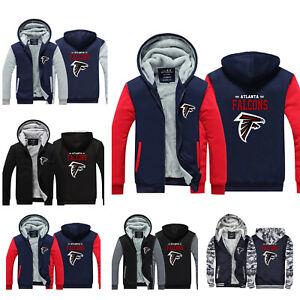 Atlanta Falcons Hoodie Thicken Fleece Sweatshirt Winter Warm Jacket Fan's Gifts