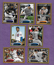 Lot of Seven 2012 Topps Mini Gold Rooke Cards  #/61   One 1/61 Cubs Phillies Sox