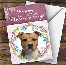 American Staffordshire Terrier Dog Animal Personalised Mother's Day Card