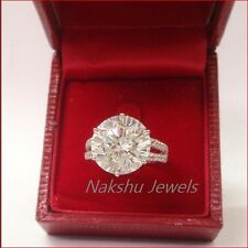 Big 3 Ct Off White Round Moissanite Wedding Engagement Ring 925 Sterling Silver
