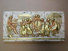 Relief Griechische Nymphe Stuck gips Wandrelief Skulptur Greek Wandbild Relief