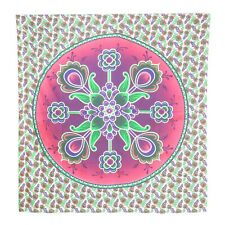 Pink Floral Tapestry Wall Hanging Hippie Bedspread Dorm Decor Bedding Tapestry