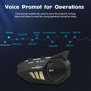 FREEDCONN F1 Plus Interfono Per Motocicletta  Bluetooth Per Casco IP65 HD K5C8