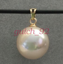 HUGE AAA 16mm South Sea Pink Shell Pearl 14k Gold Pendant