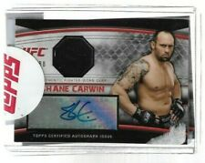 2010 Topps UFC Knockouts Autographed Gear Used Relic  SHANE CARWIN Serial # /188