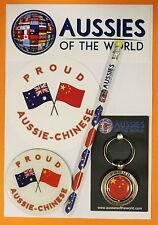PROUD AUSSIE - CHINESE GIFT PACK AUSTRALIAN SOUVENIR KEYRING MAGNET STICKER