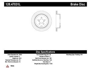 StopTech For Toyota / Subaru / Scion Disc Brake Rotor Rear Left - 128.47031L