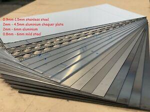 Steel, aluminium, stainless, plate, sheet 0.8mm 1mm 1.5mm 2mm 3mm 4mm 5mm 6mm