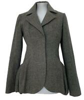 VERA WANG GRAY WOOL BLAZER COAT, 2, $1200