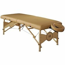 Mt Massage 30 inch Midas Standard Portable Package Bed Couch Table Spa Cream