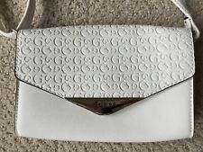 White Guess Small Envelope Clutch Purse