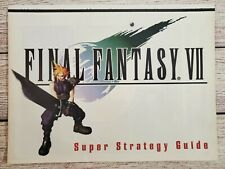 Final Fantasy VII 7 Super Strategy Guide PC PS1 Playstation Game Promo Ad Poster