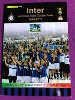 ITALIA - FOLDER 2011 - INTER VINCITRICE DELLA COPPA ITALIA 2010-2011 RARO