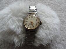Louvic 17 Jewels Incabloc Vintage Swiss Made Wind Up Ladies Watch