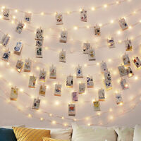 2M-10M Photo Clip LED String Lights Battery Operated Outdoor Decoration Lights