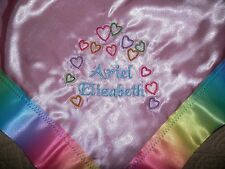 """Angel Wings"" Blankie 18""x18"" Order Color *Each One Different Will Monogram *New"