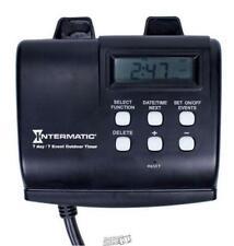 Intermatic-15 Amp 7-Day Outdoor Digital Plug-In Timer - Black