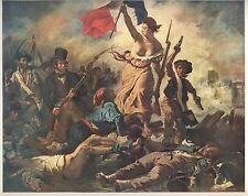 "1960 Art Print ""Liberty Leading The People"" Eugene Delacroix French Free Ship"