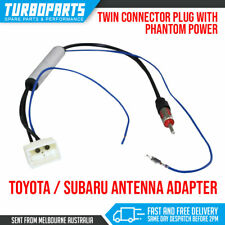 Twin Toyota Subaru DIN Male Antenna Radio Adapter Power BRZ XV WRX Liberty 86