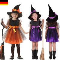 Damen Kostüm Magierin Kleid Hexe Karneval Halloween Rub