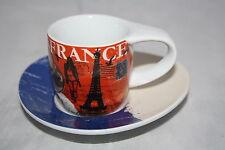 2 tlg. Espresso Set Frankreich France Könitz Porzellan Cosmopolitan Style