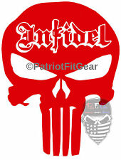 Punisher Skull,Infidel,ISIS COWARDS,Molon Labe,2A,Anti-Terrorist,Vinyl Decal