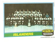 1980-81 Topps Hockey Team Photo Mini Poster Pinup New York Islanders Mint