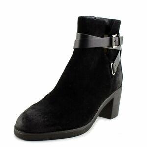 BNIB MICHEAL KORS WOMEN'S BLACK SUEDE LOW HEEL ANKLE BOOTS UK 7.5/40.5 RRP £220