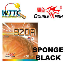 Double Fish 820A Medium Pips-Out Rubber With Sponge BLACK