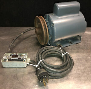 """GE 3/4 HP 115/230V 1725RPM 1Ph Motor. Used On Rockwell 6"""" Deluxe Jointer 37-220"""