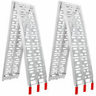 2X 7.5' Heavy Duty Aluminum Motorcycle Arched Truck ATV Folding Loading Ramps