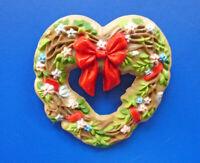Hallmark PIN Valentines Vintage HEART WREATH Grapevine FLORAL Holiday Brooch
