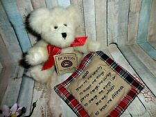 """Boyds Bear ~ With Serenity Prayer Quilt ~ Thinking of You ~ 8"""" ~ Rare Boyds"""