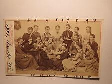 Neuchâtel - 1871-Groupe de filles-nommé-de Grebel.../CDV