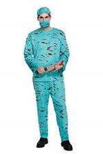 Adulto Sangriento cirujano doctor Scrubs-Disfraz de Halloween Disfraz Aterrador V00 163