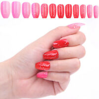 Coffin Colorful Artificial Nail Nail Art Decoration Fake Nails Tips False Nails