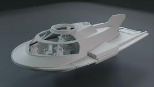 """Fantastic Voyage Proteus 10"""" Submarine 3D Printed 8 Piece Set includes 5 Figures"""