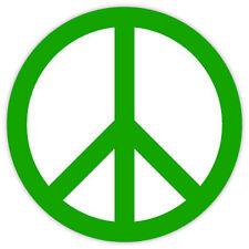 Peace symbol green simbolo di pace etichetta sticker 11cm x 11cm