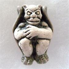 Peruvian Ceramic Gargoyle Pendant Focal Bead (1) Hand Painted