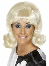 1960's 70's Blonde Funky Flick Up Fun Party Wig Festival Fancy Dress Clubbing
