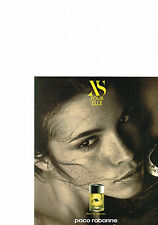 PUBLICITE ADVERTISING  1995   PACO  RABANNE  parfum XS  pour ELLE