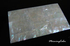 3 Sheets of White Mother of Pearl Veneer (MOP Morning Calm Shell Paua Abalone)