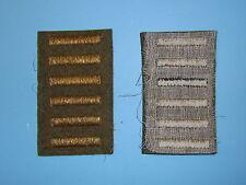 b1655-6 WW 2 US Army Overseas Bar Officer style 6 bars OD wool