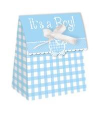 Its a Boy NOUVEAU bébé Sachets à cadeaux avec ruban x 12