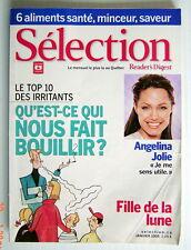SÉLECTION DU READER'S DIGEST DE JANVIER 2005, EN COUVERTURE ANGELINA JOLIE