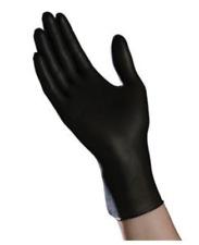 Ambitex Nitrile Exam Gloves, Powder-Free, Non-Latex, Fully Textured,Black 100/BX